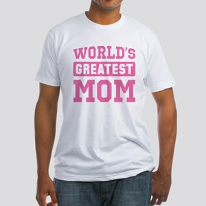 [Pink] World's Greatest Mom Fitted T-Shirt
